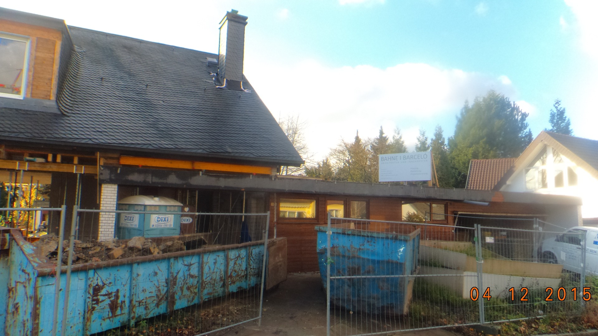 Umbau Einfamilienhaus Dortmund-Kirchhörde_Bauschild