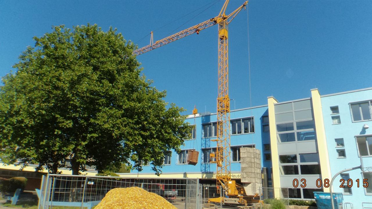 Die Sanierung der Grundschule in Herten während der Bauphase