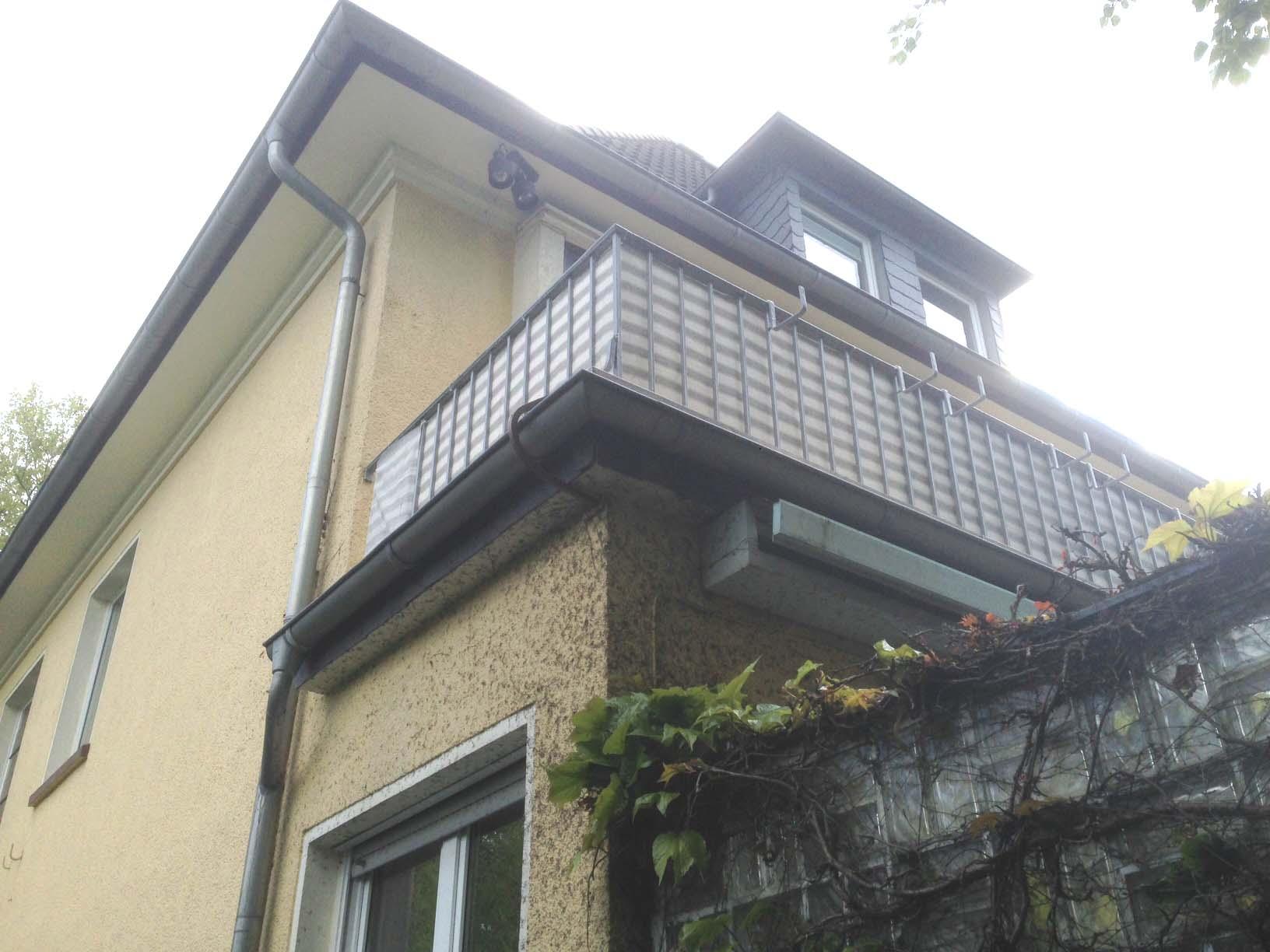 Detailansicht Bestandsbalkon, Mehrfamilienhaus in Dortmund