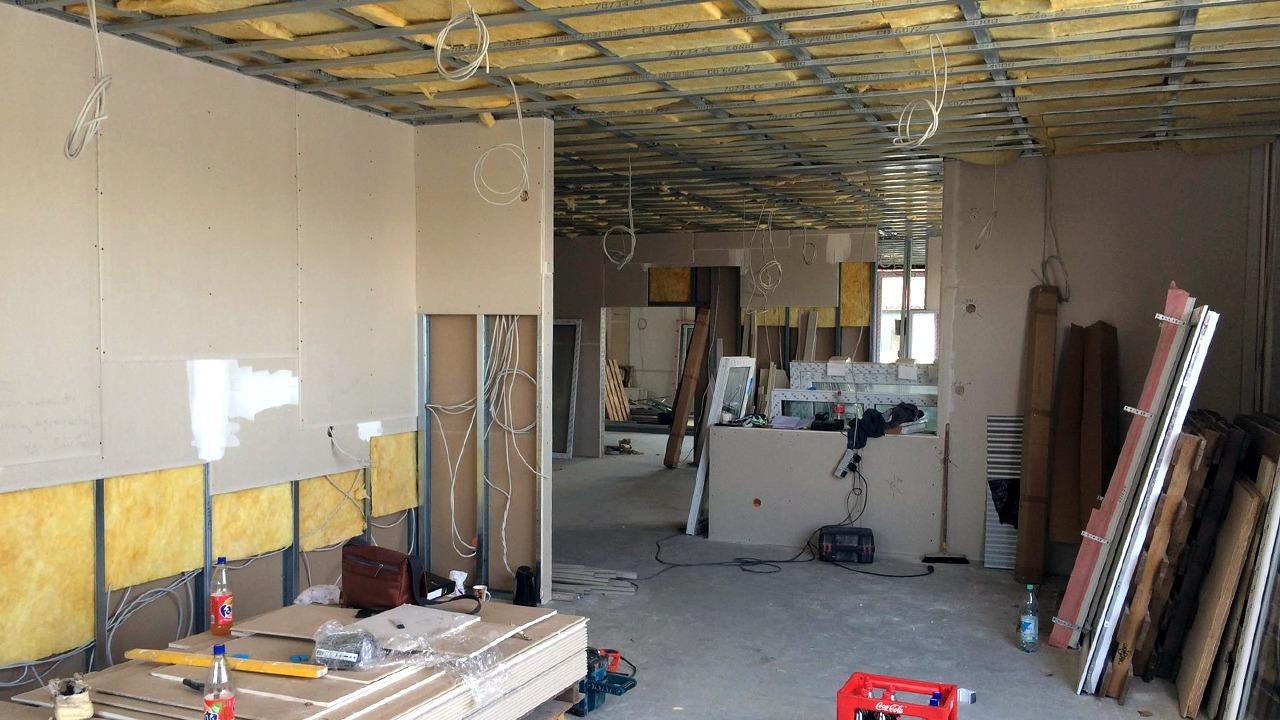 Die Sanierung in Karlsbad während der Bauphase