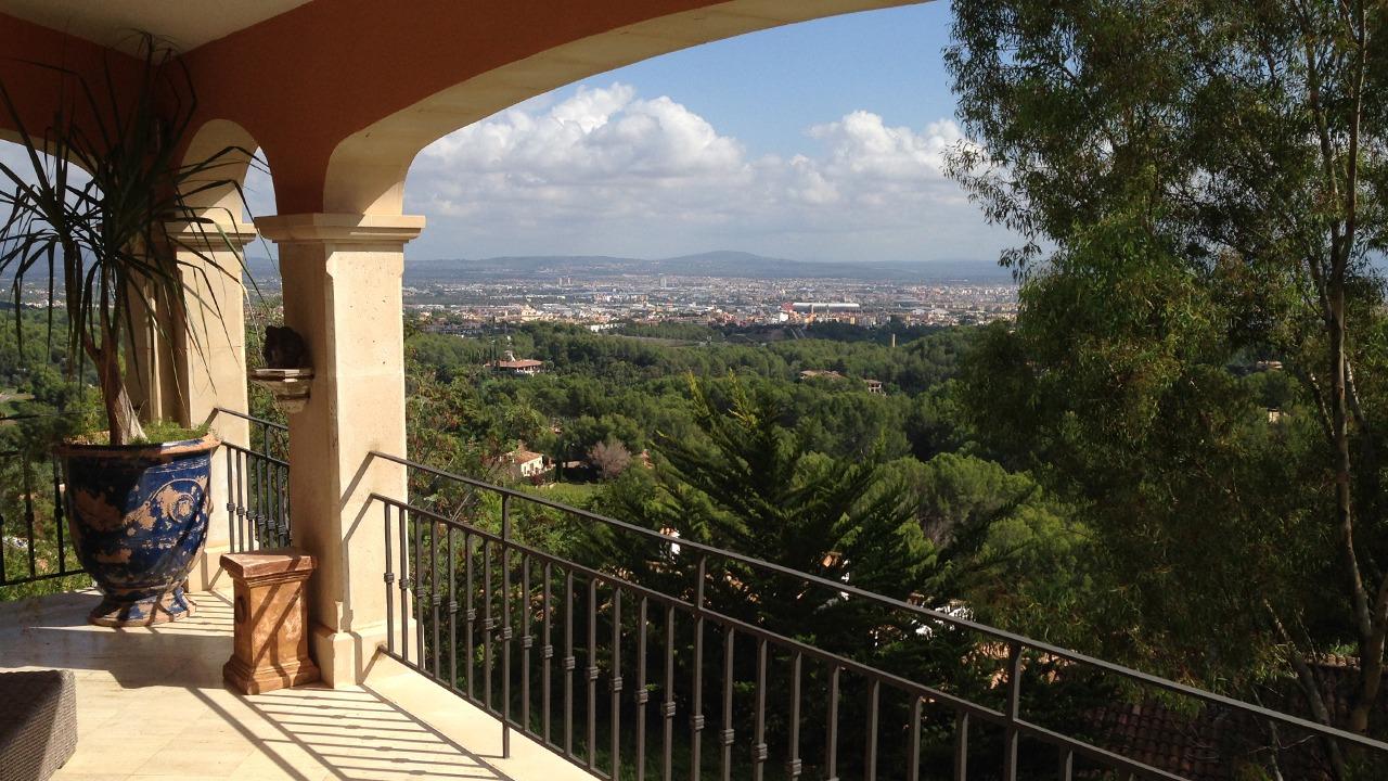 Herrlicher Asublick auf Palma und die Bucht von Palma