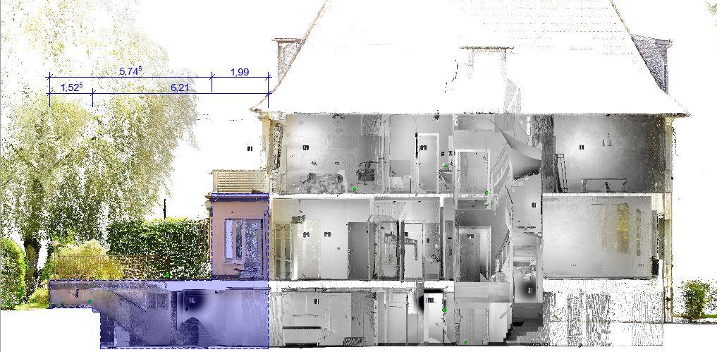 3D-Laserscanning im Bauwesen – aktuelle Umbaumaßnahme an einem Wohnhaus in Dortmund