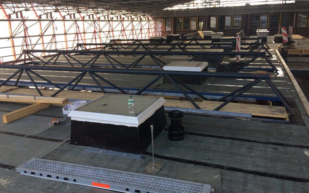 Update – Feuerwache Herten – Dach der Fahrzeughalle wird nun auch saniert