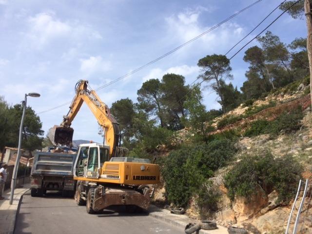 Beginn der Erdarbeiten – Neubau in der Cala Llamp